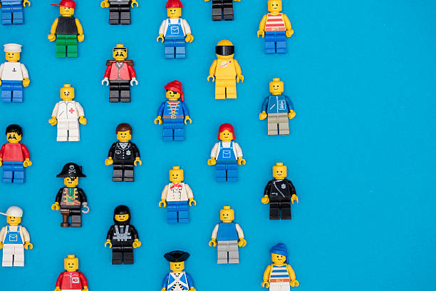 lego figures background - lego 뉴스 사진 이미지