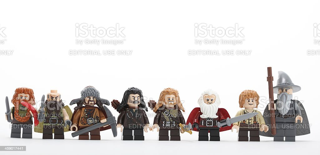 Lego figures from the Hobbit serie stock photo