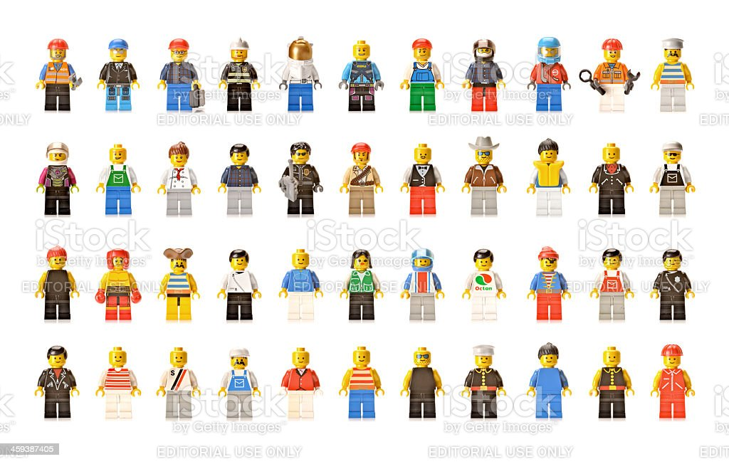Lego figures men and women stock photo