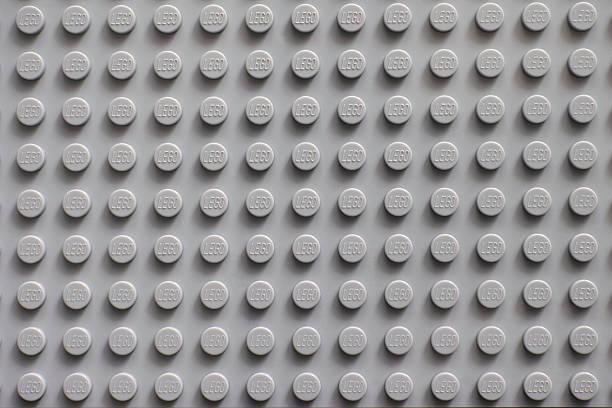 lego gray baseplate - lego stockfoto's en -beelden