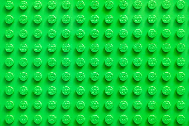 lego green baseplate - lego stockfoto's en -beelden
