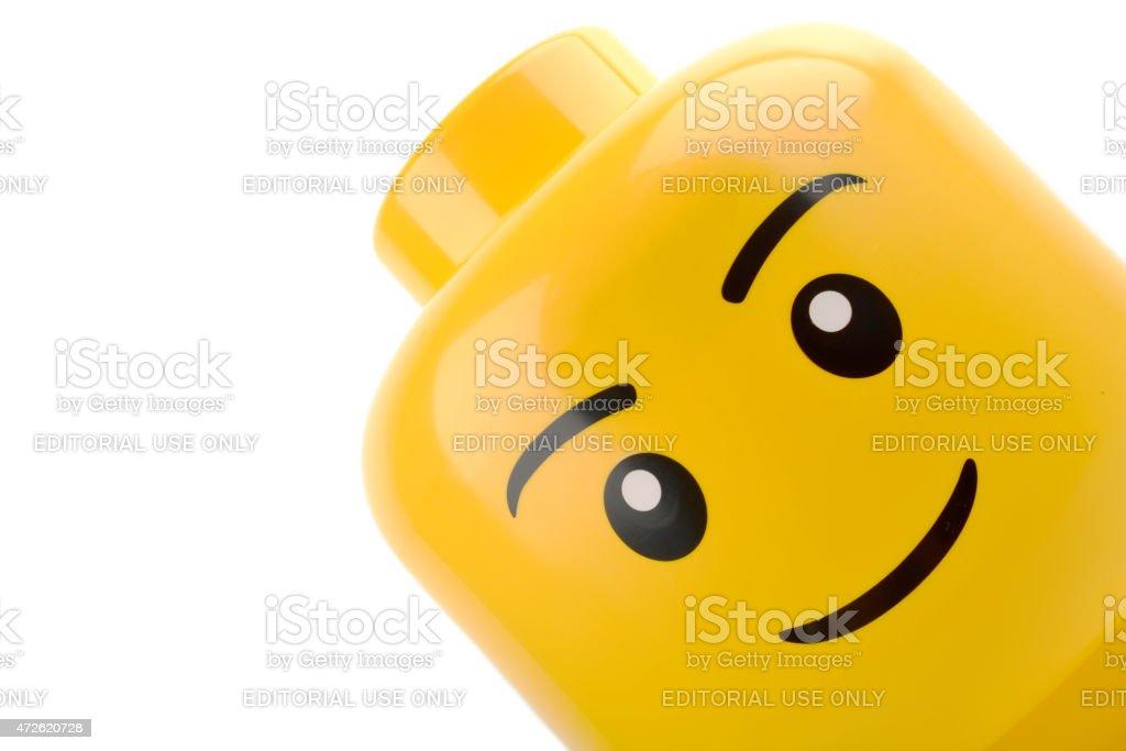 Lego head close up stock photo