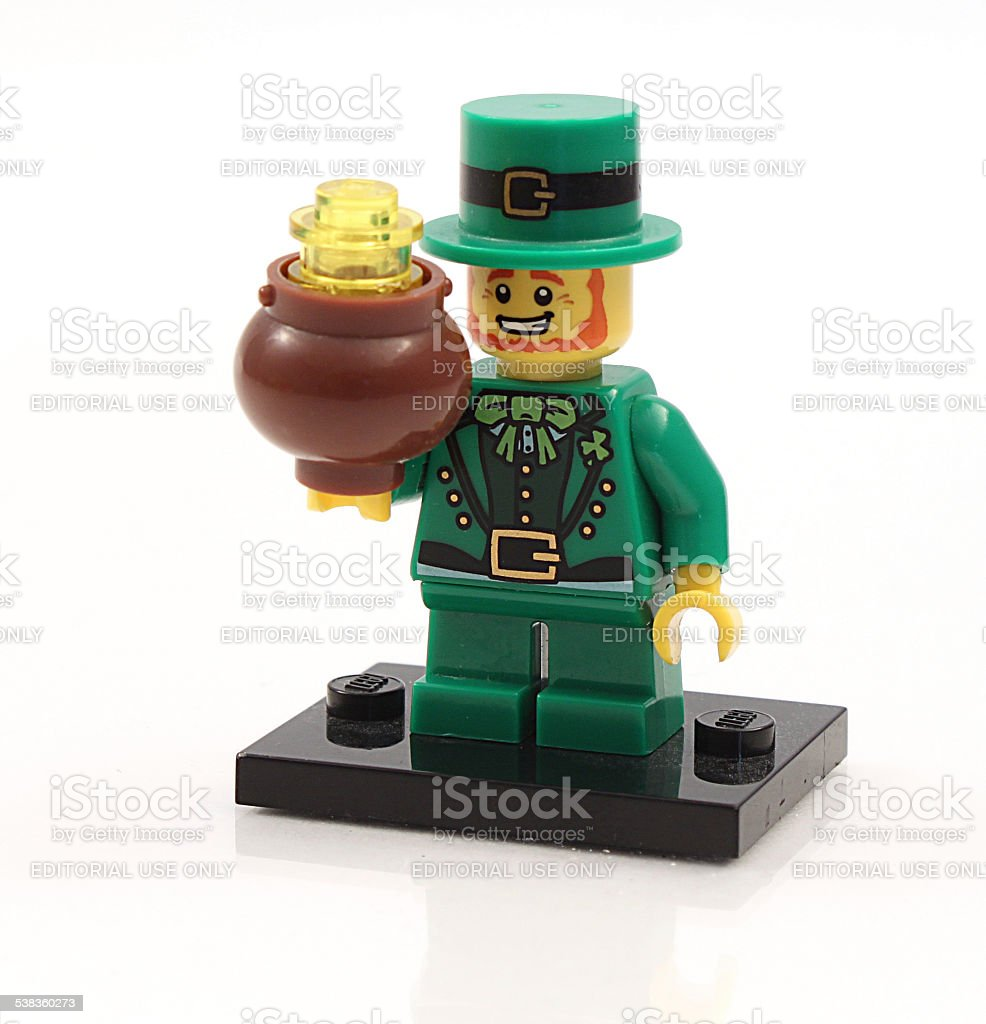 Lego Leprechaun stock photo