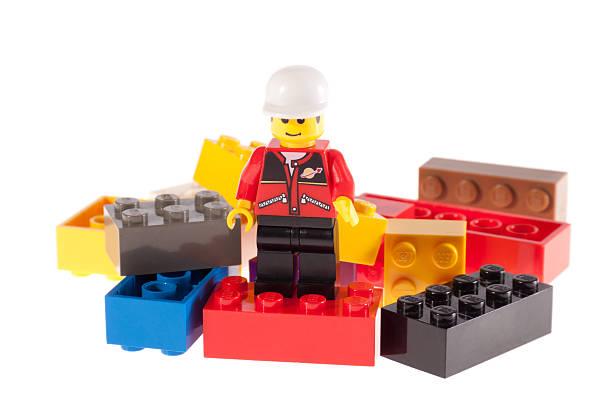 Lego Man on Bricks stock photo