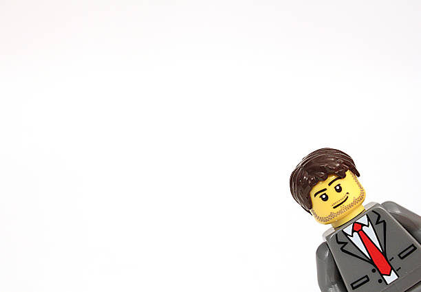 lego man - lego stockfoto's en -beelden
