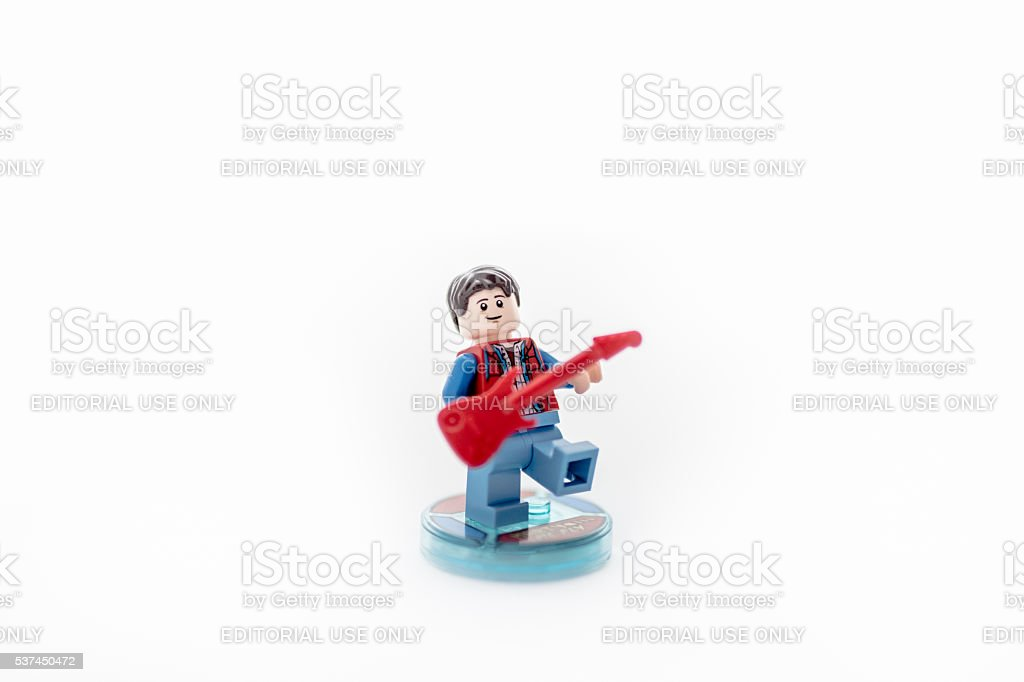 Lego Marty McFly Figurine stock photo