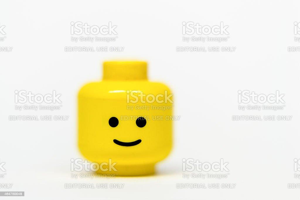 Lego mini figure head stock photo