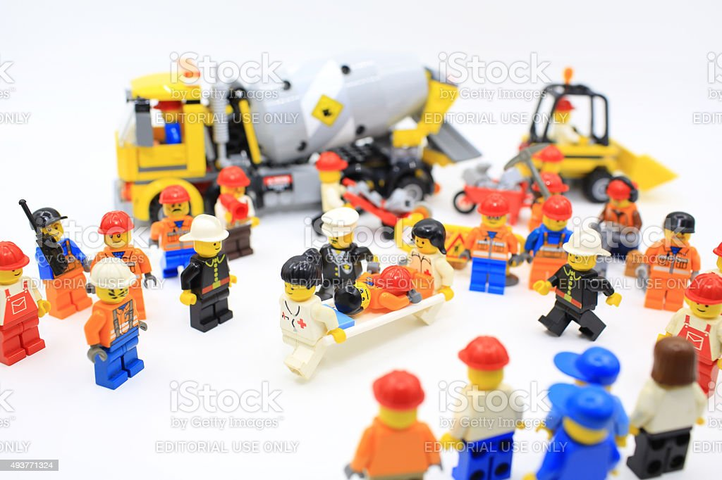 lego minifigure stock photo
