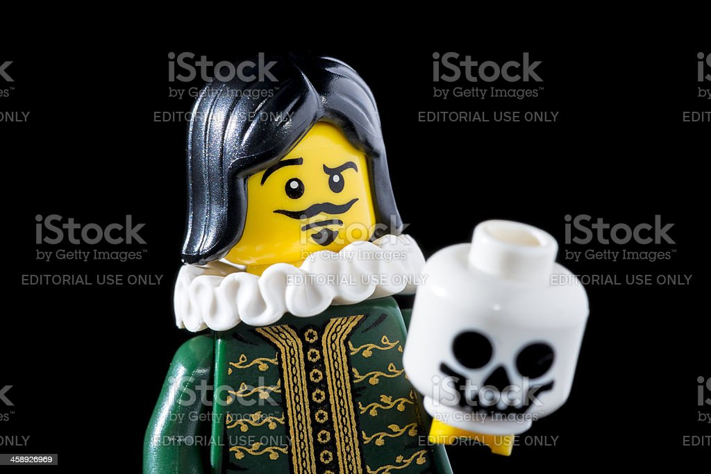 Lego Minifigures Series 8 figurine: The Thespian royalty-free stock photo