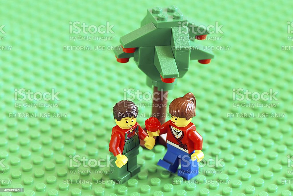 Lego modern Adam and Eve stock photo