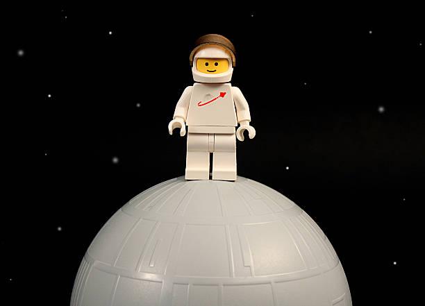 Lego Moon Landing stock photo