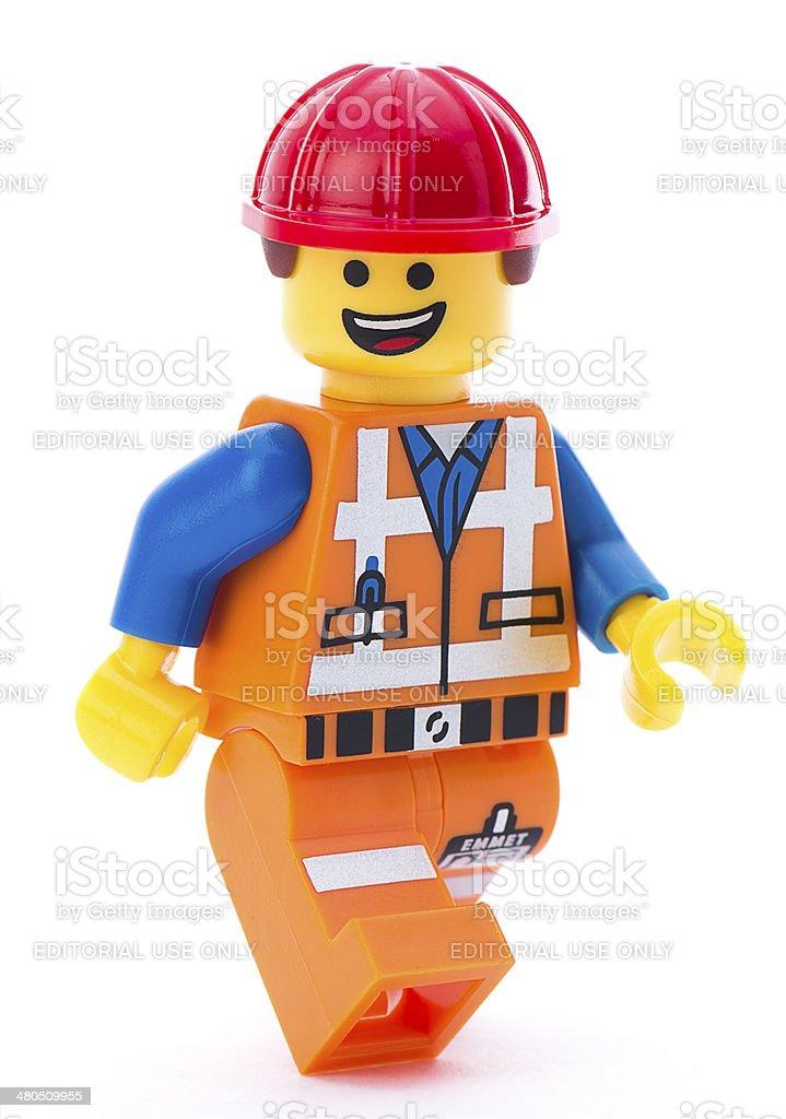 Lego Movie Minifigure Emmet Walking stock photo