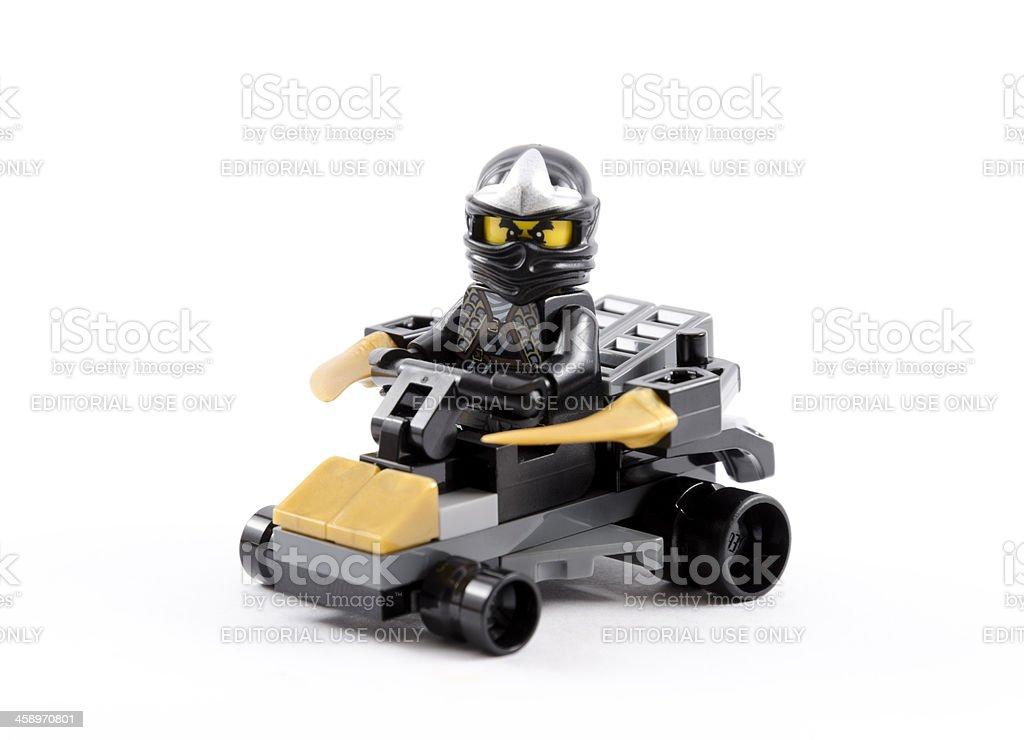Lego Ninja with four wheel vehicle royalty-free stock photo