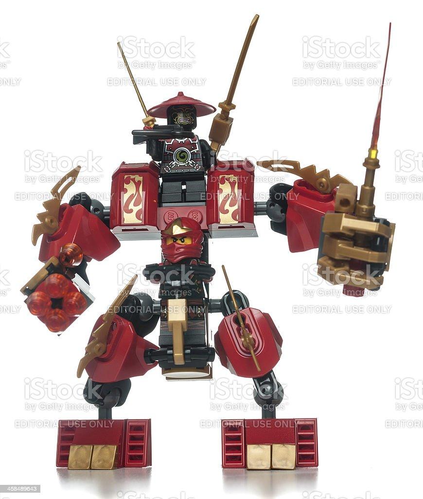 lego ninjago building toy robot with minifigures stock photo more