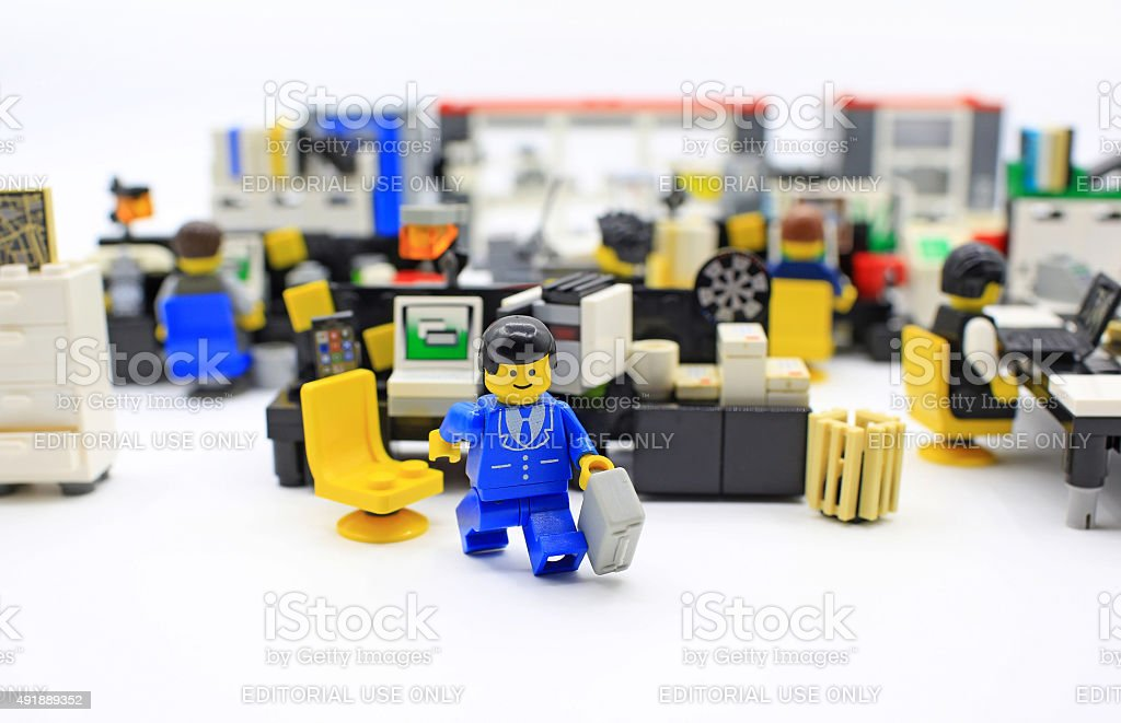 Lego office stock photo