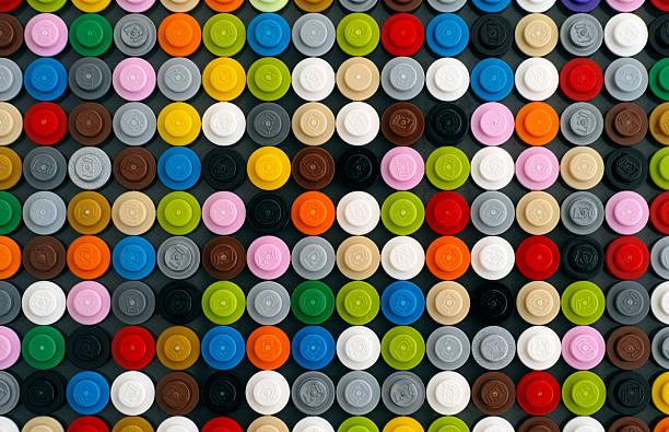 lego круглые кирпича - lego стоковые фото и изображения