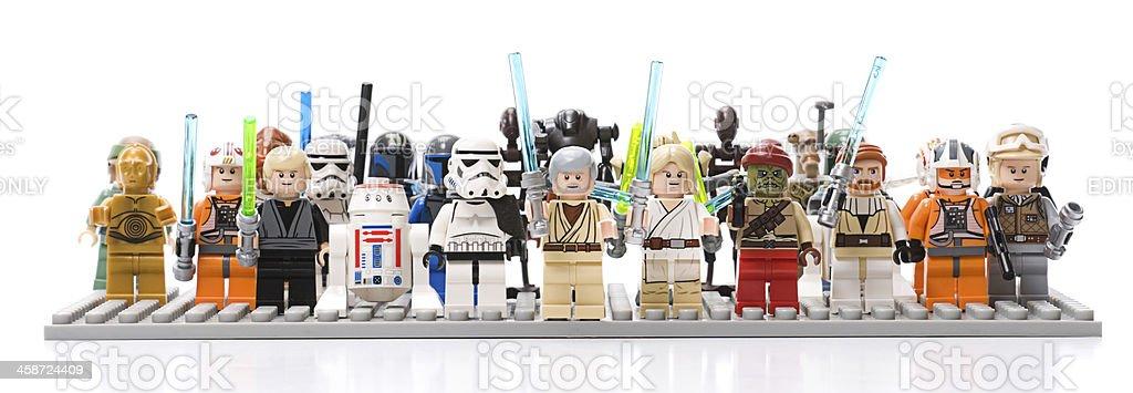 Lego Star Wars Minifigures stock photo
