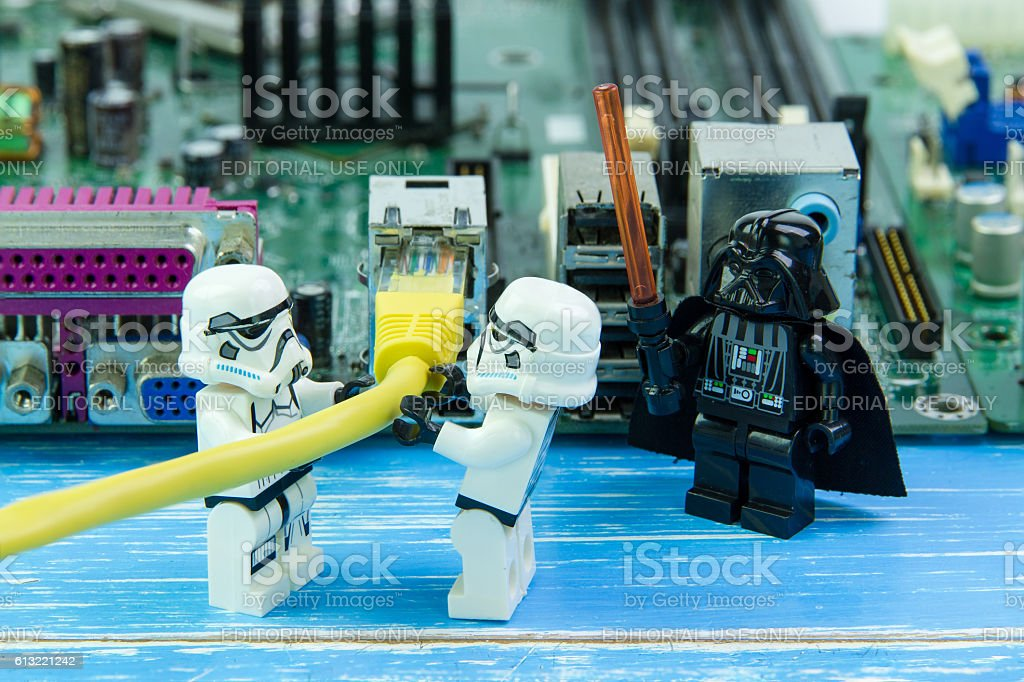 Lego Star Wars Repairing Computer Motherboard Stock Photo & More ...