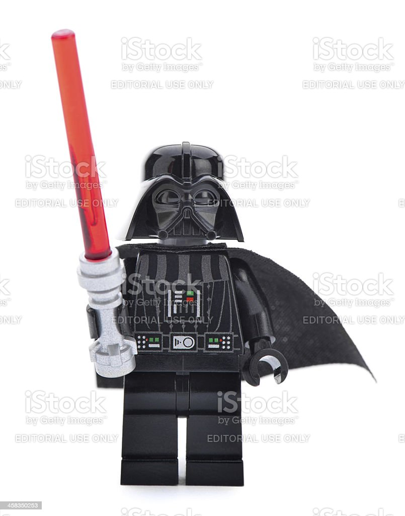 Lego Star Wars toy character Darth Vader stock photo