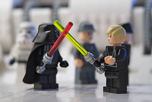 lego sword fight - darth vader 個照片及圖片檔