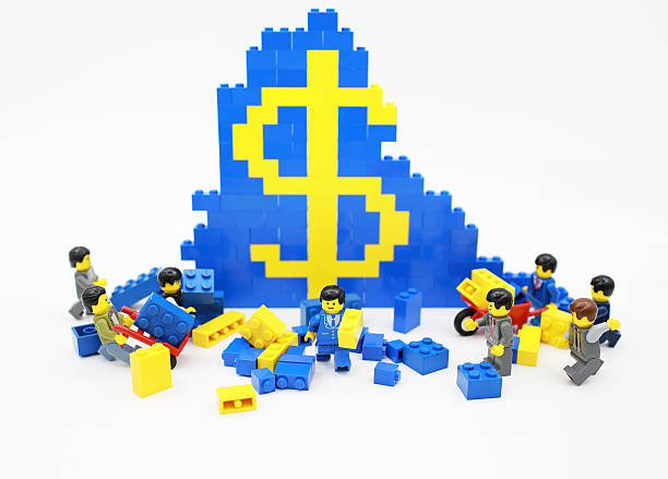 lego toy - lego house stock photos and pictures