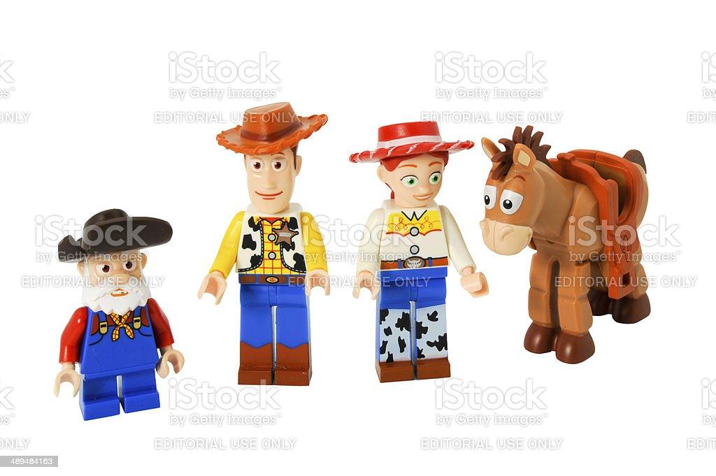 Lego Toy Story minifigures stock photo