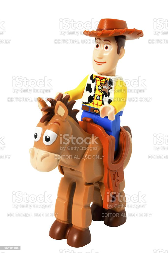 Lego Woody and Bullseye minifigures stock photo