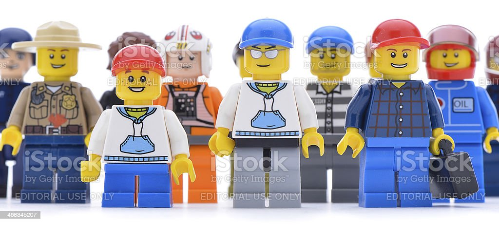Lego Worker Minifigures royalty-free stock photo