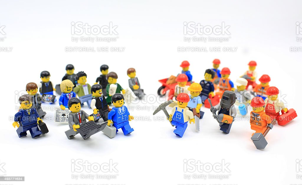 lego worker stock photo