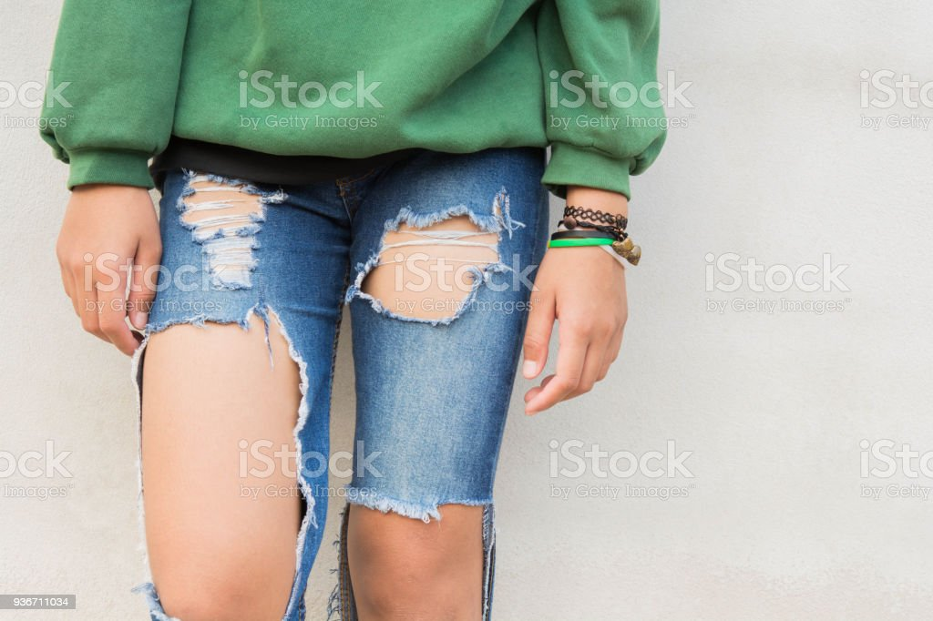 Legs And Jeans Teen Royalty Free Stock Photo