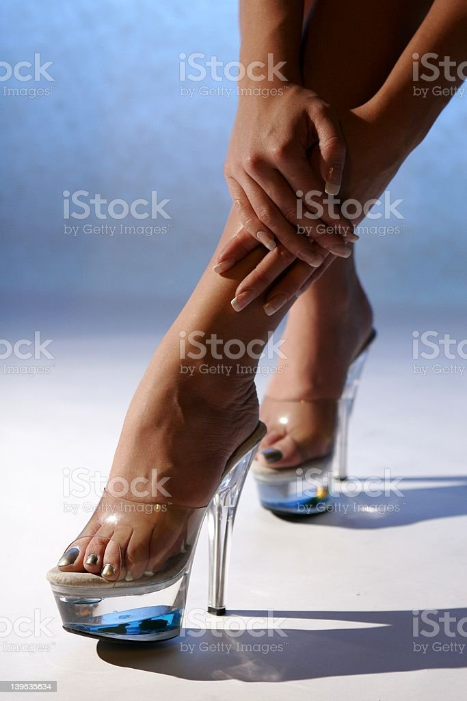 legs and nails royalty-free stock photo