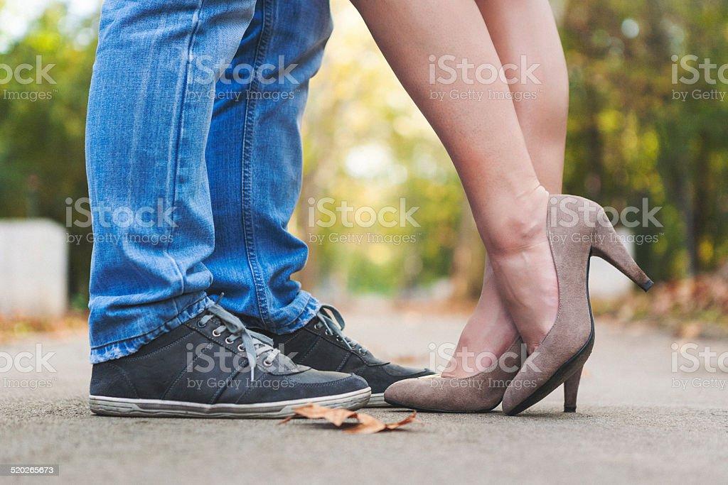Beine flirten