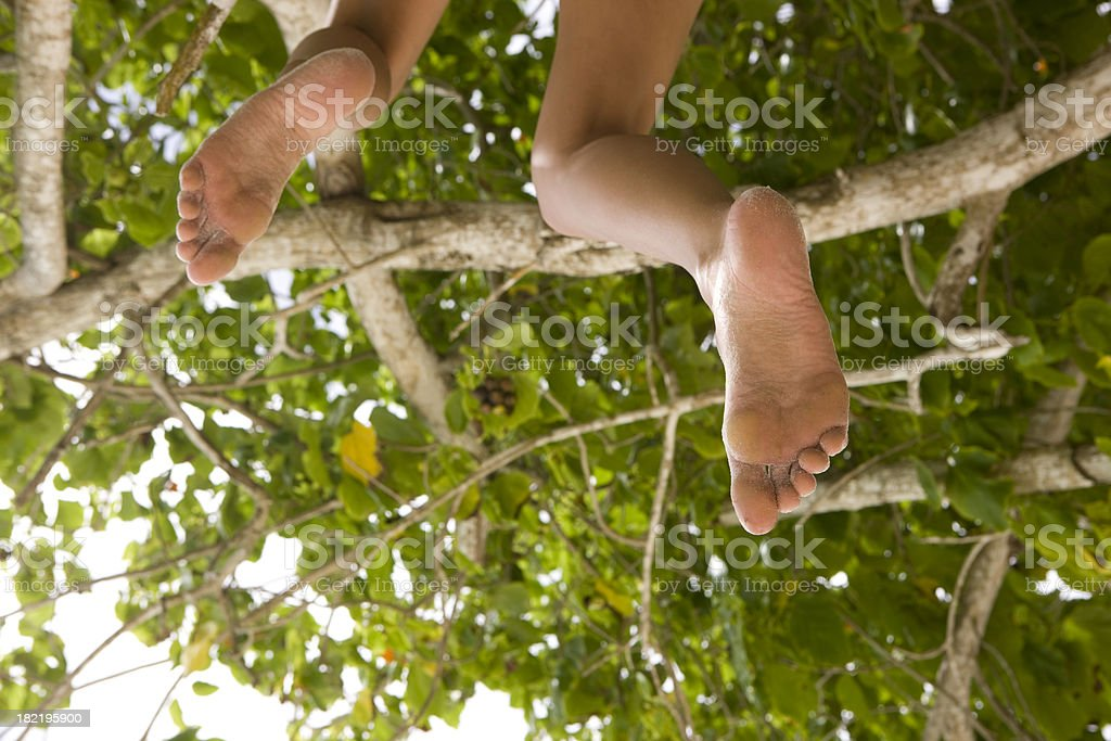 Legs hanging royalty-free stock photo