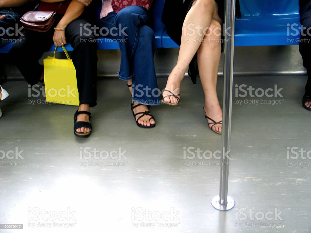 Legs In A Train royalty-free stock photo