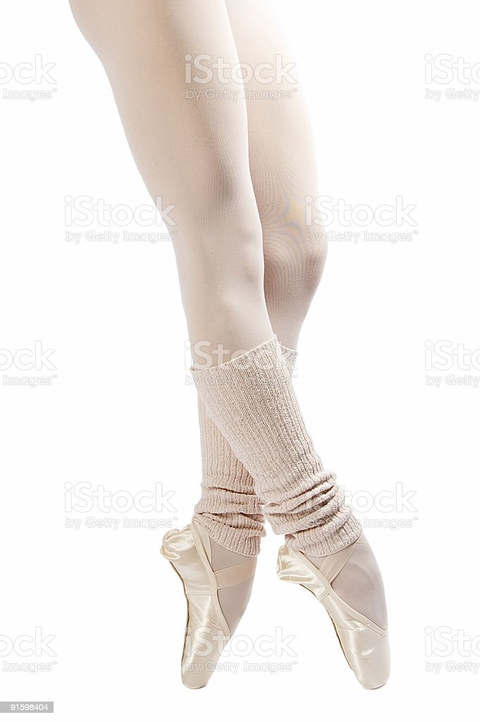 legs in ballet shoes 2 royalty-free stock photo