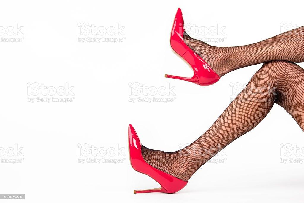 Les chaussures à talon. photo libre de droits