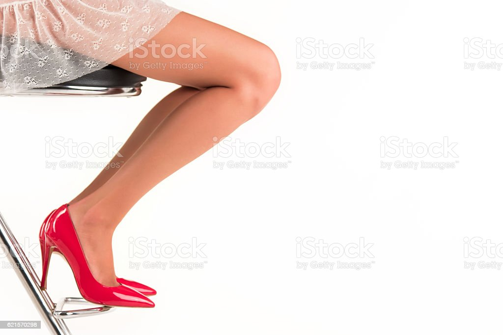 Legs in high heels. photo libre de droits