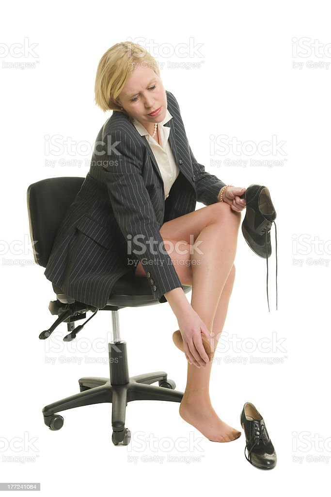 Legs in pain royalty-free stock photo
