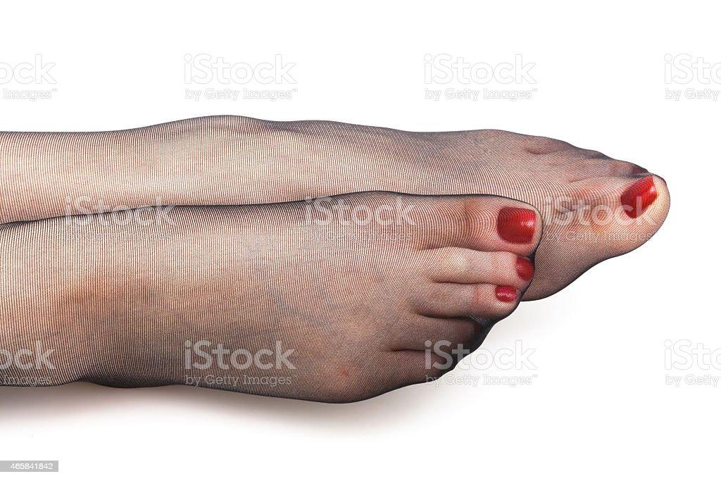 Beine in Strümpfe – Foto