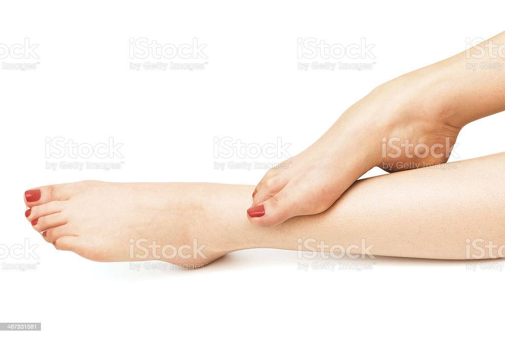 legs in stockings royalty-free stock photo