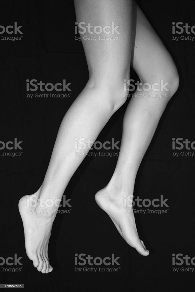Legs in the Air stock photo
