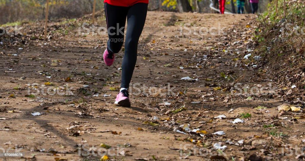 Legs male athlete stock photo
