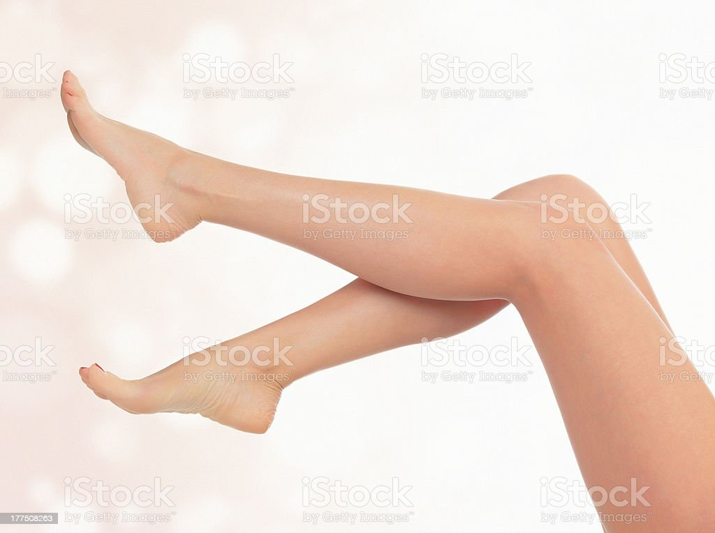 Legs of a woman stock photo