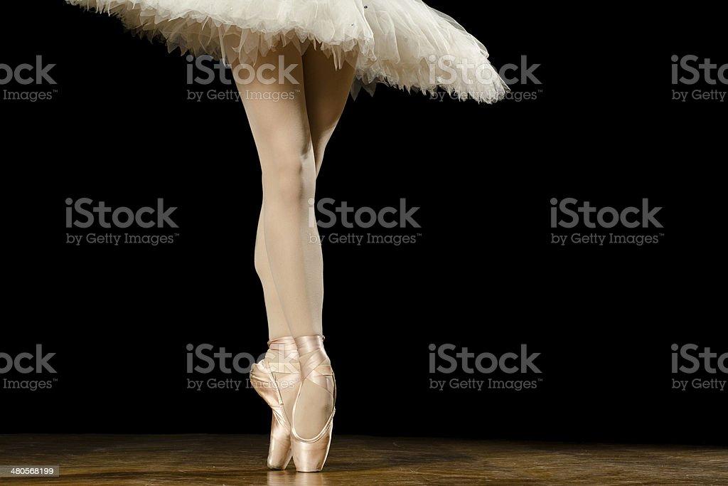 Legs of ballerina stock photo