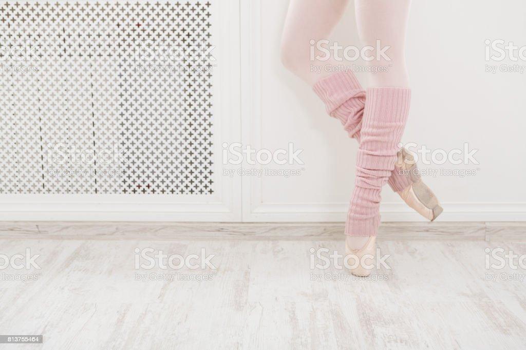 293ffd81c Piernas De Bailarina De Ballet Con Polainas Closeup Foto de stock y ...