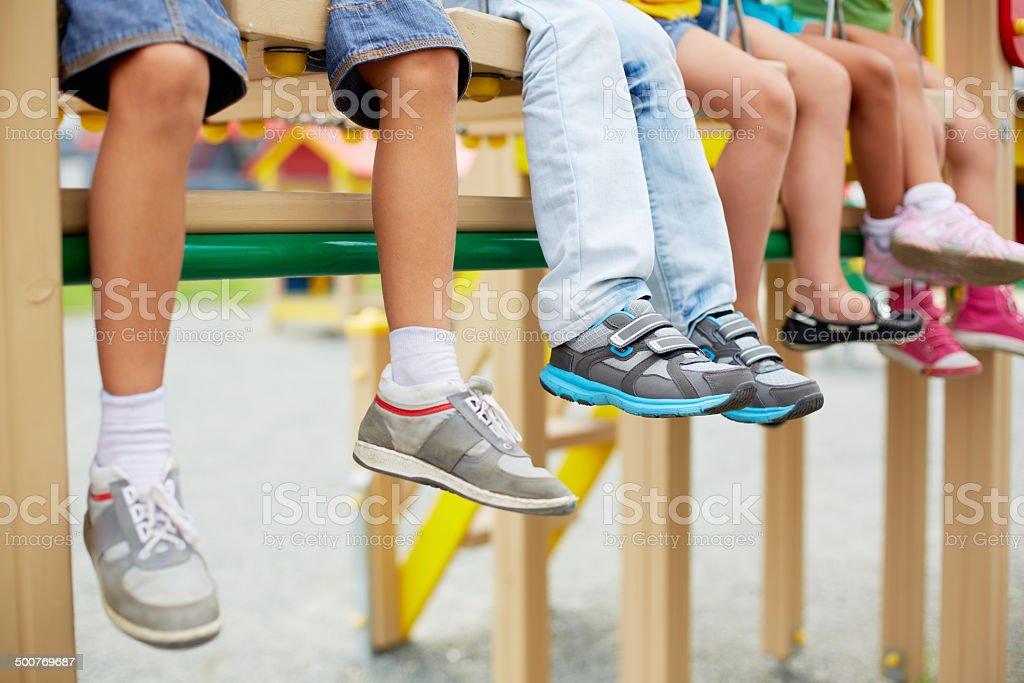 Legs of kids stock photo