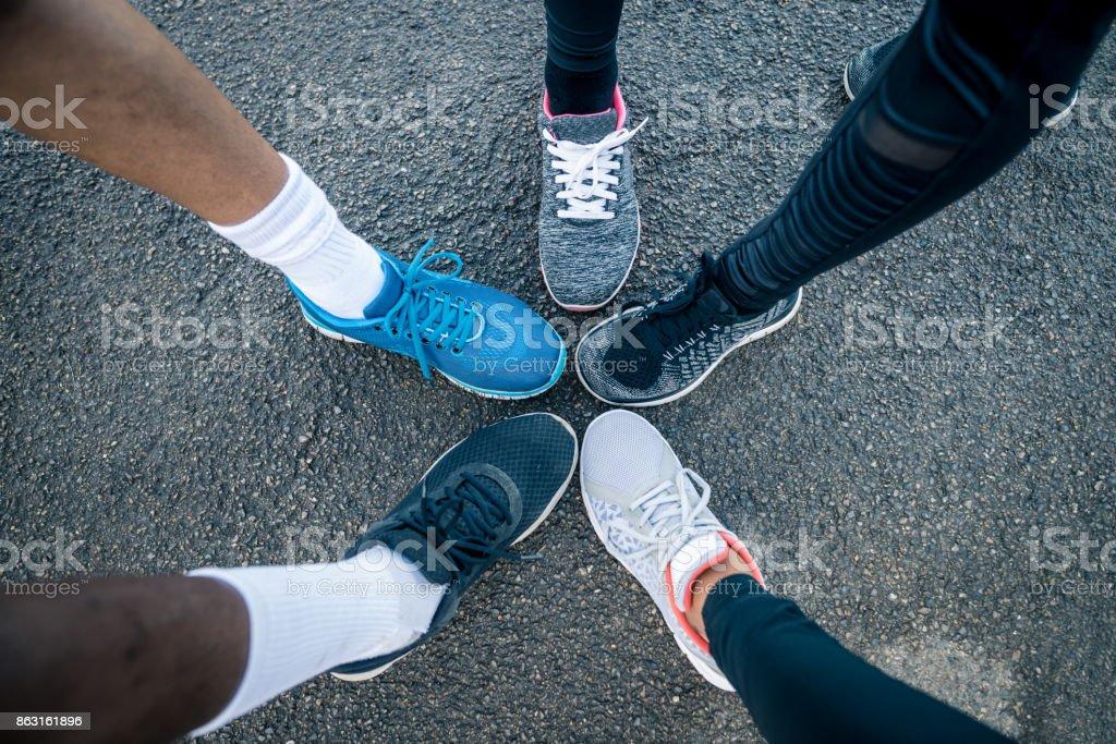 Beine der Sportler – Foto