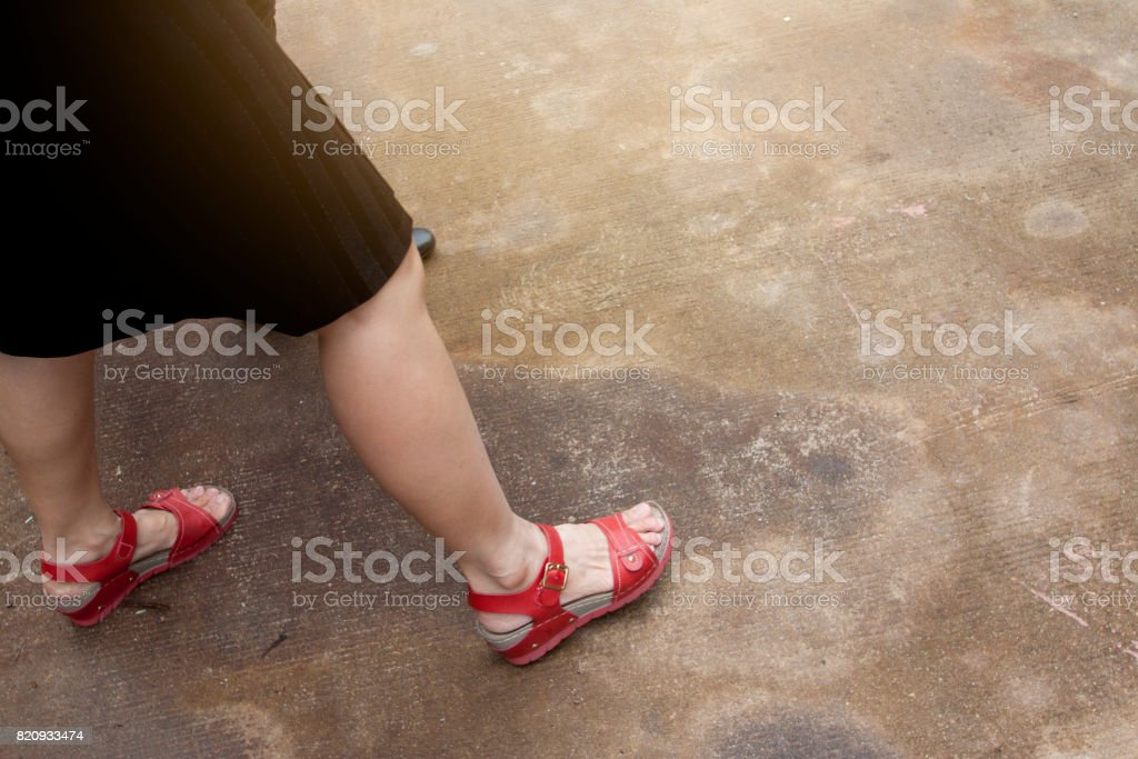 Legs of women stock photo