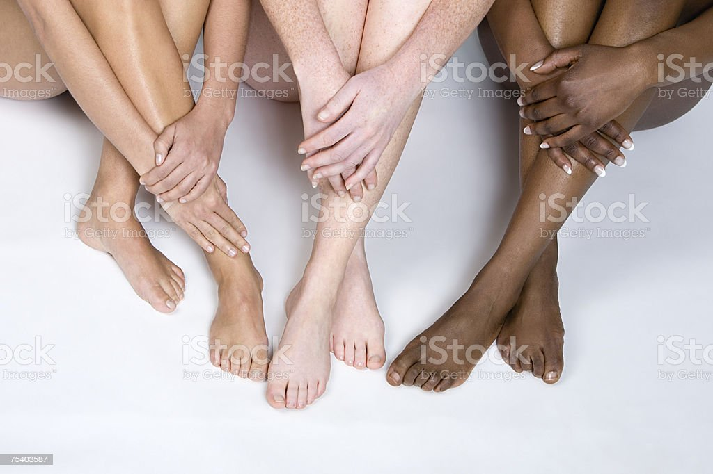 Legs of young women stock photo