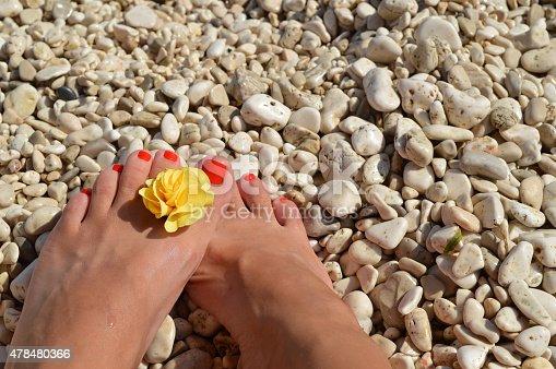 istock Legs on the beach 478480366